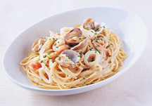 Shinsen gyokai no cream sauce pasta