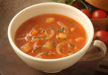 Minestrone Soup with barley and vegetables