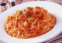 Snow Crab & Shrimp Tomato Cream Pasta